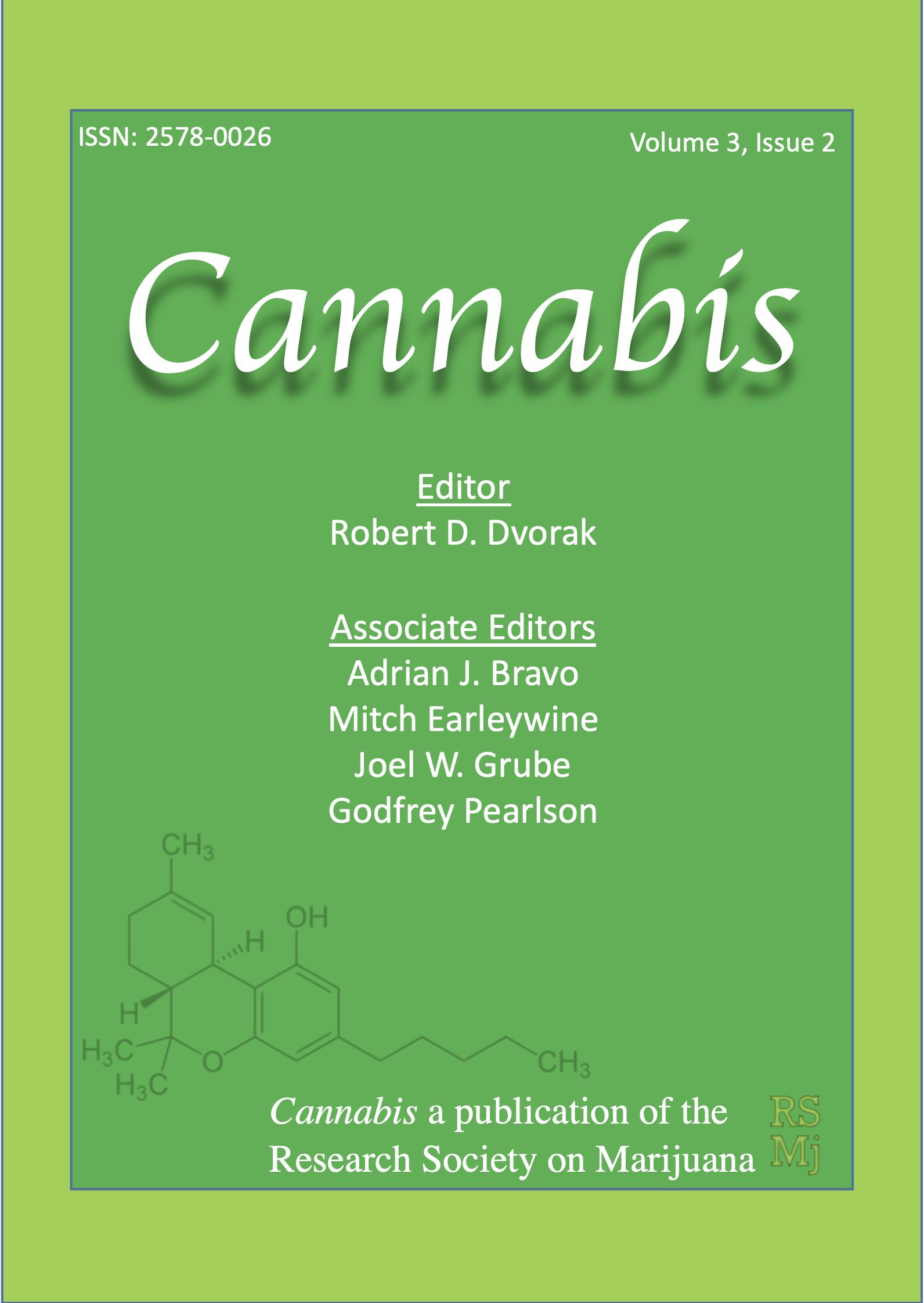 View Vol. 3 No. 2 (2020): Cannabis